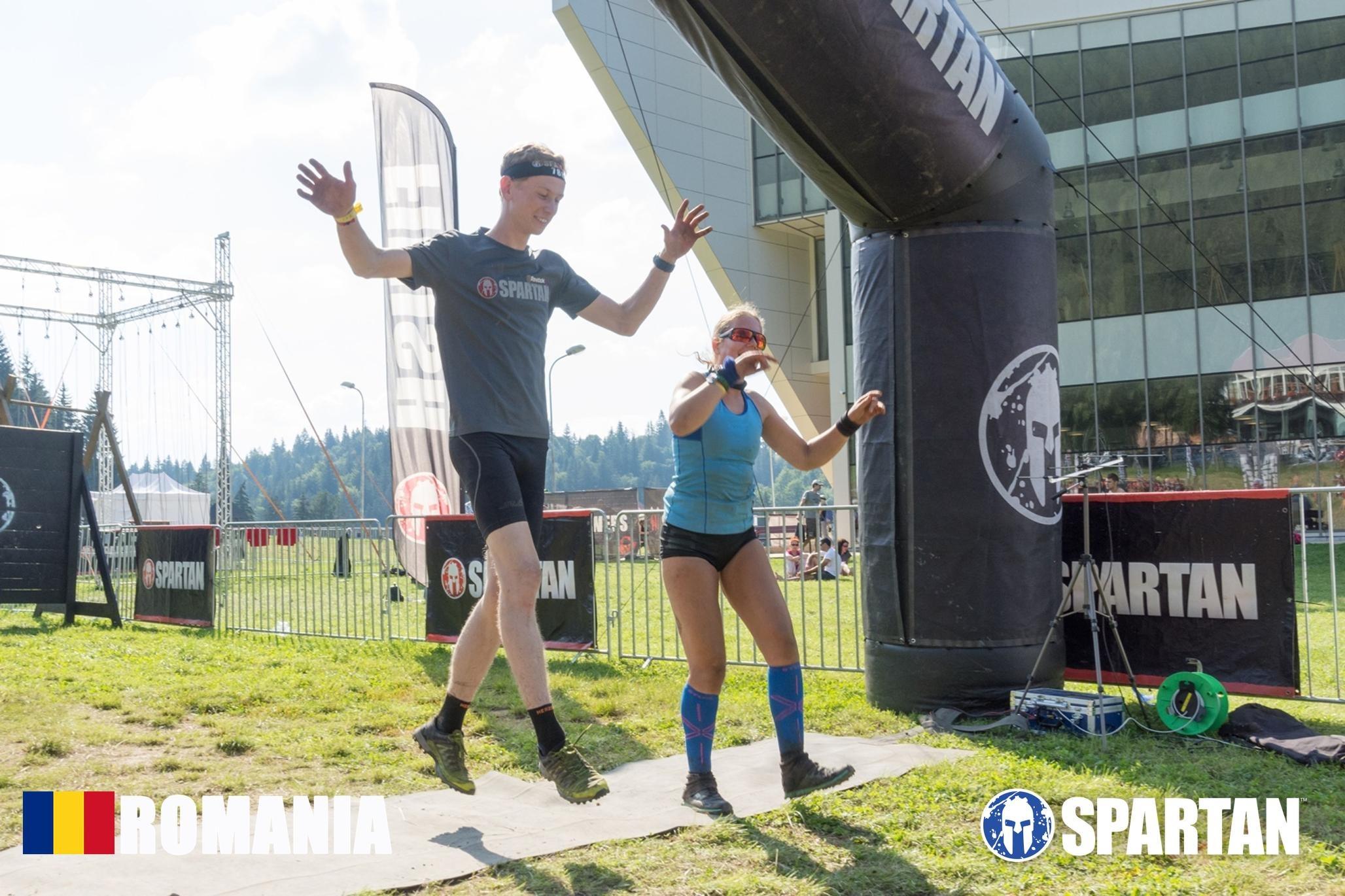 Sabina in Mudland - Spartan Race Romania Finishing together