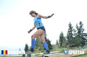 Sabina in Mudland - Spartan Race Romania I own the slackline