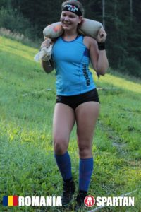 Sabina in Mudland - Spartan Race Romania Sandbag Carry