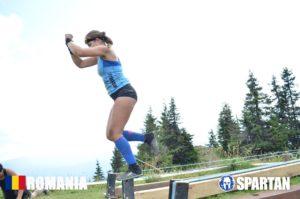 Sabina in Mudland - Spartan Race Romania Slackline finish