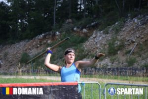 Sabina in Mudland - Spartan Race Romania Spearthrow