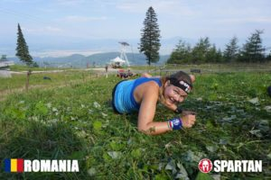 Sabina in Mudland - Spartan Race Romania crawl